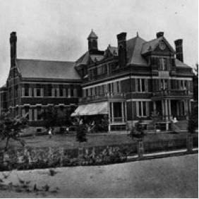 One of the first photos of the Cincinnati Children's Hospital
