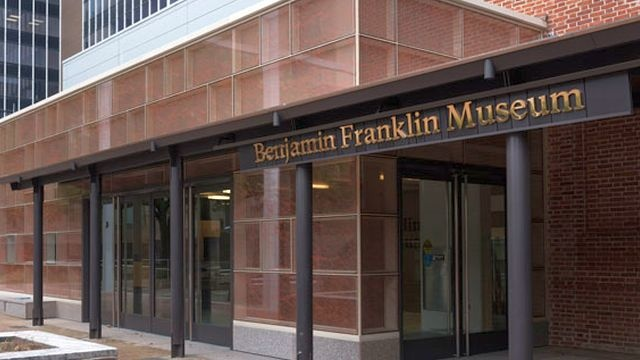 Front of Benjamin Franklin Museum