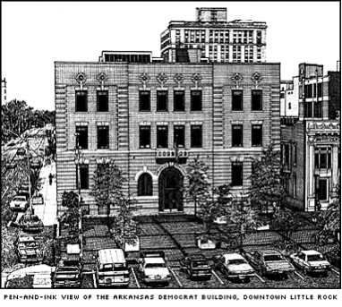 Early photo of the Arkansas Gazette building