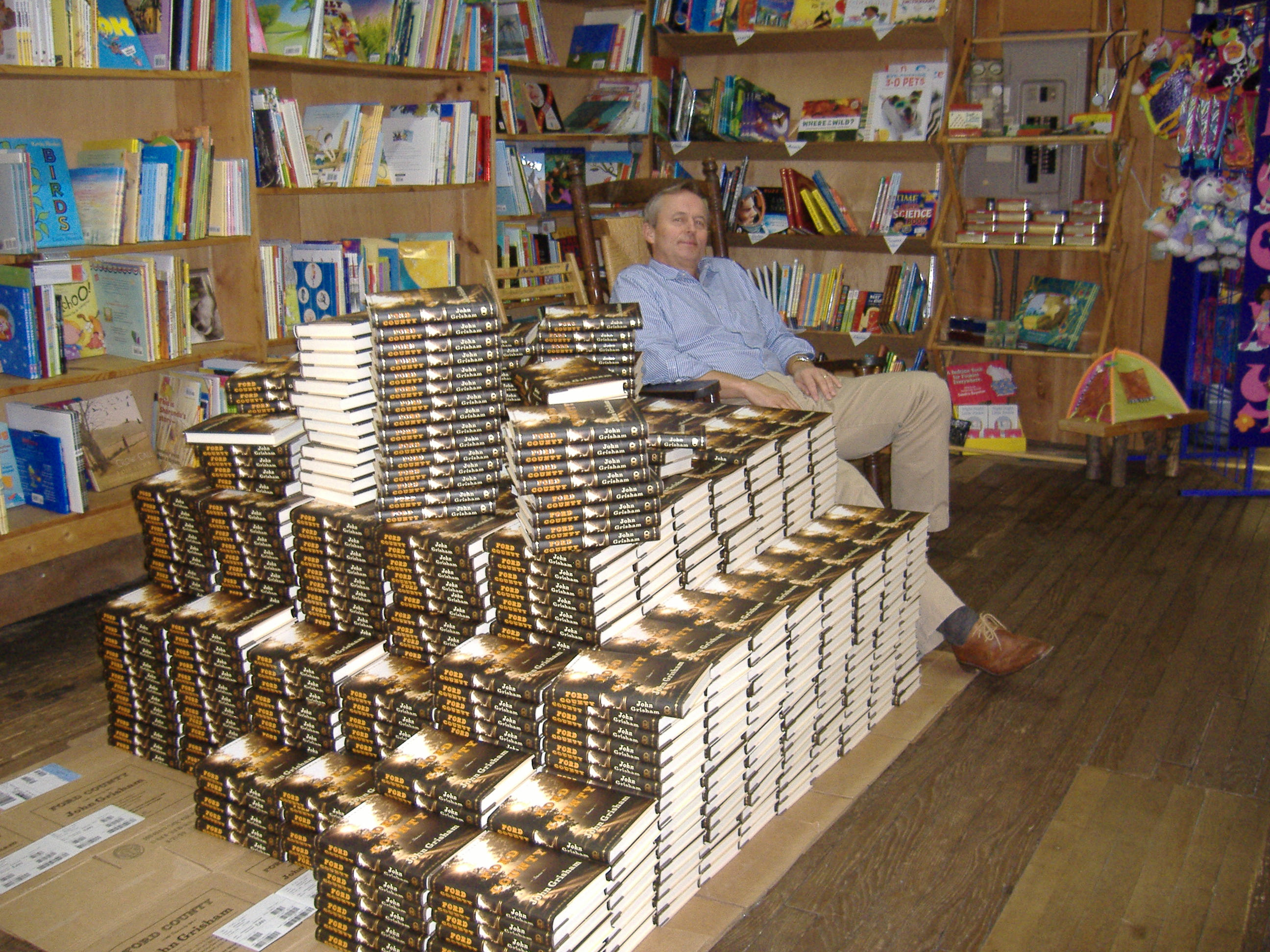John Grisham at a book signing in the store.