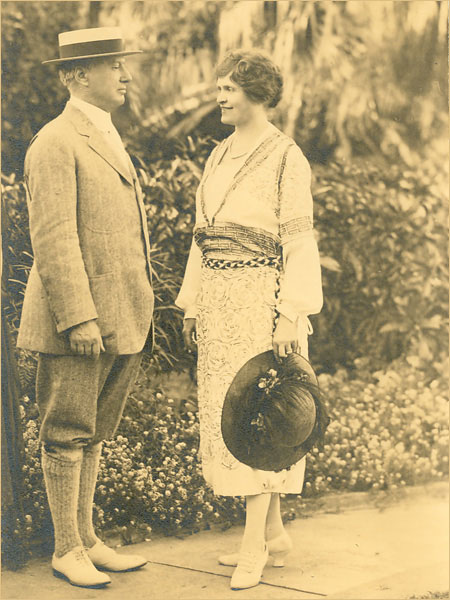 Alfred Nemours and his third wife, Jessie.