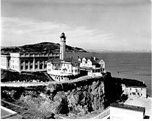 Alcatraz Lighthouse in 1909