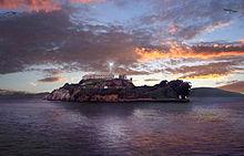 Alcatraz Lighthouse at sunset