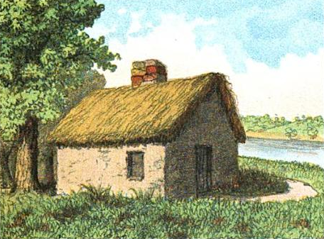 An artist's rendition of what this area may have looked like in 1625 when Blaxton settled near Beacon's Hill.