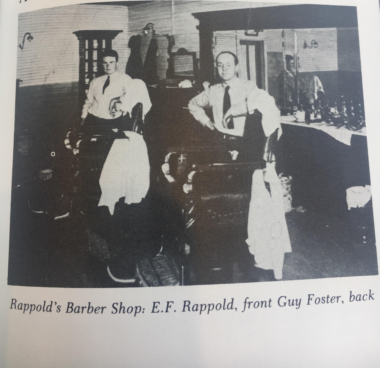 The founding Rappold, E.F. Rappold, pictured in the original shop. (right)