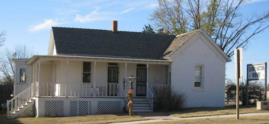 The Carry A. Nation Home was declared a National Historical Landmark in 1976. Carrie lived in the home with her husband David Nation from 1889 to 1902.