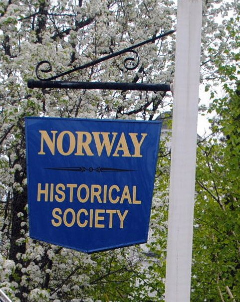 Norway Historical Society maintains a library and local history museum that is open by appointment in addition to regular hours.