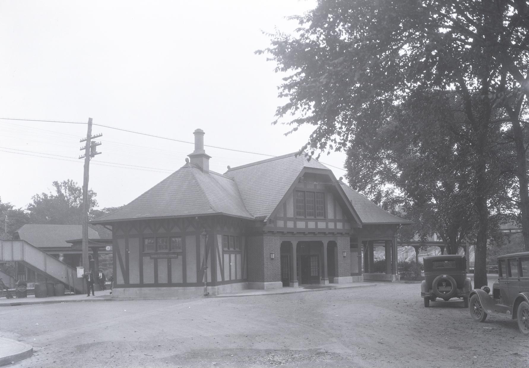 Hartsdale Railroad Station.