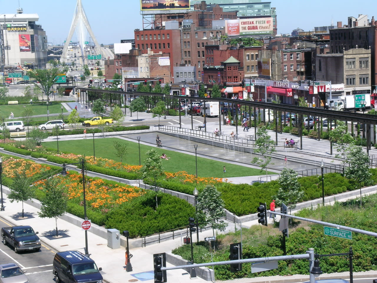 The Rose Kennedy Greenway Recently After its Opening - 2008