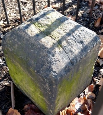 This boundary stone was one of a series of stones that marked the original boundary of the District of Columbia.