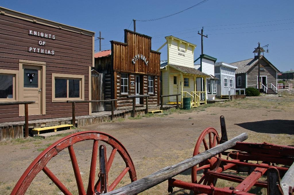 The recreated mining town