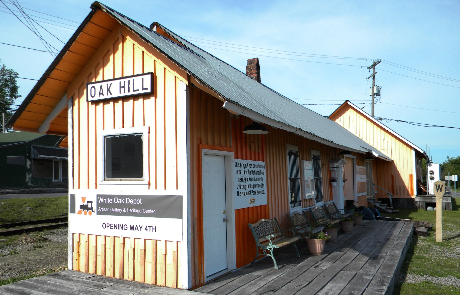 Oak Hill Railroad Depot in the 2000s.