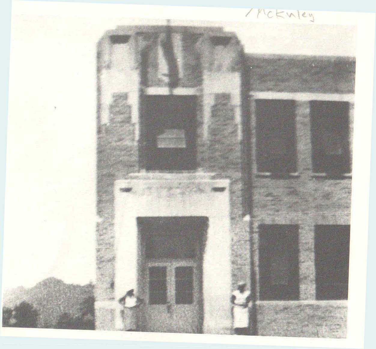 First portion of the school in mid 1930s. Note the 2 students.