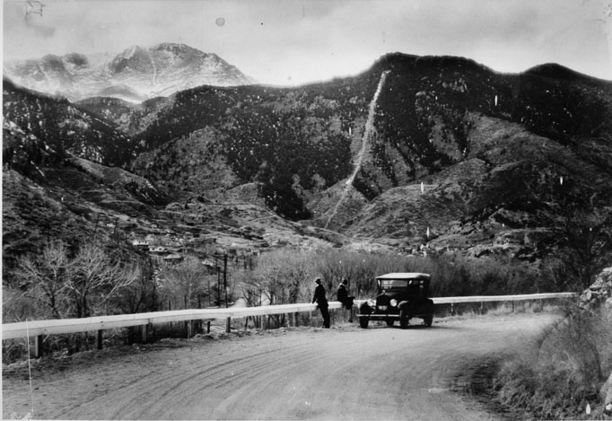 Picture of the Incline when it was completed in 1907