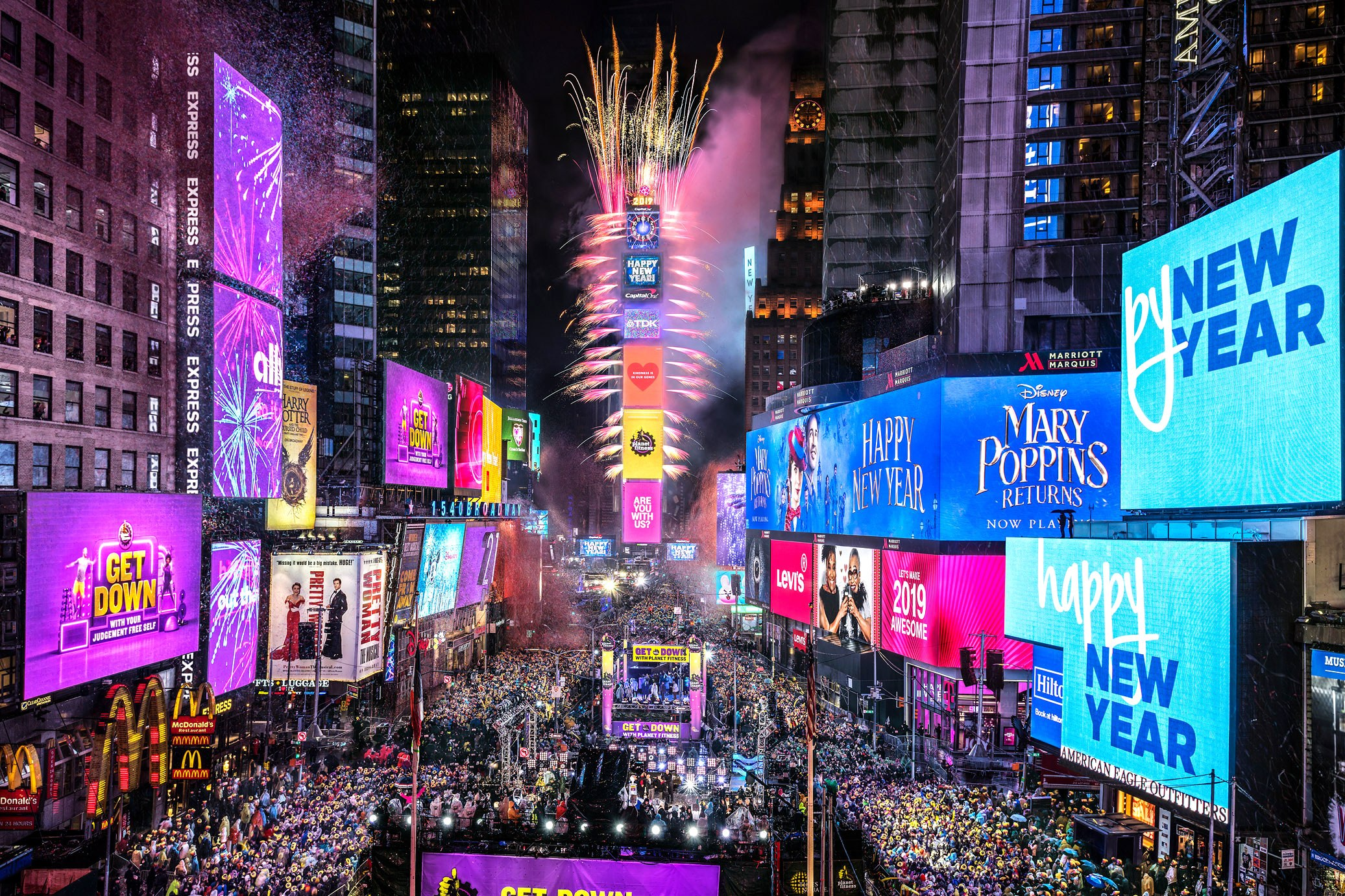 One Times Square During New Year's Eve