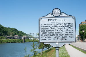 Sign post for Fort Lee.