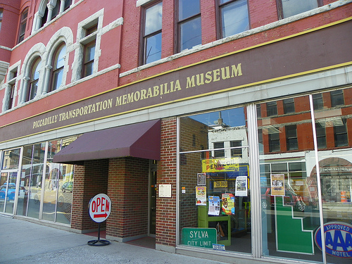 The museum's entrance