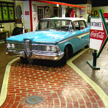One of the vintage cars housed in the museum