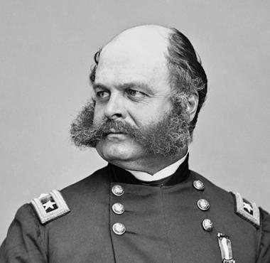 General Ambrose E. Burnside commander of the Union Army of the Potomac