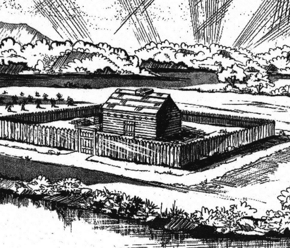 Artist's rendition of the fort