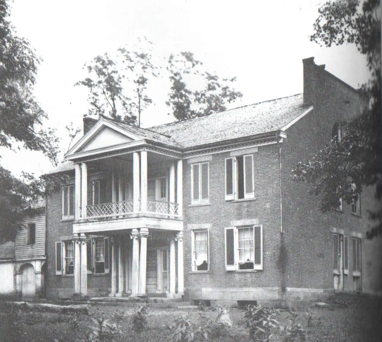 Valcoulon mansion in 1880... built at Ft. Tackett site