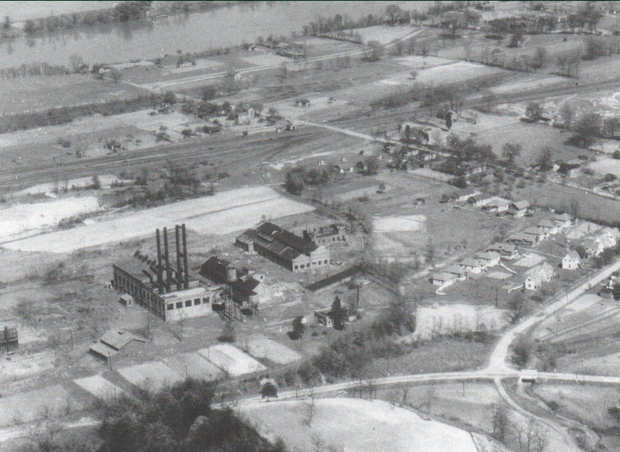 R&H Chemical and Explosives Plant built on Ft. Tackett Site. Mansion was torn down to make the plant.Foundation stones are at the St. Albans Historical Society building for a tree well.
