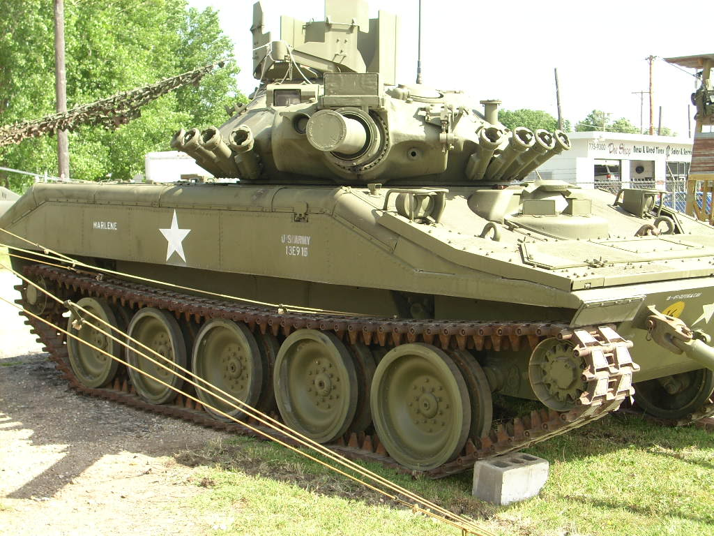 One of the tanks on display at the museum.