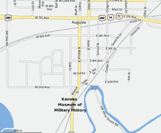 Kansas Museum of Military History Map.