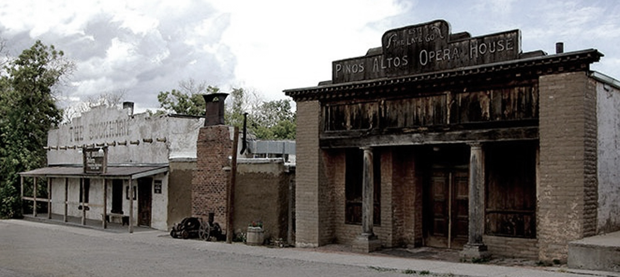 Two of the oldest still standing buildings in Pinos Altos. The Buckhorn saloon and Pinos Altos Opera House.