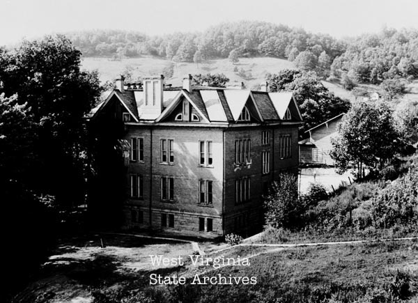 Rear of Sutton High School. Photo Courtesy of the West Virginia State Archives