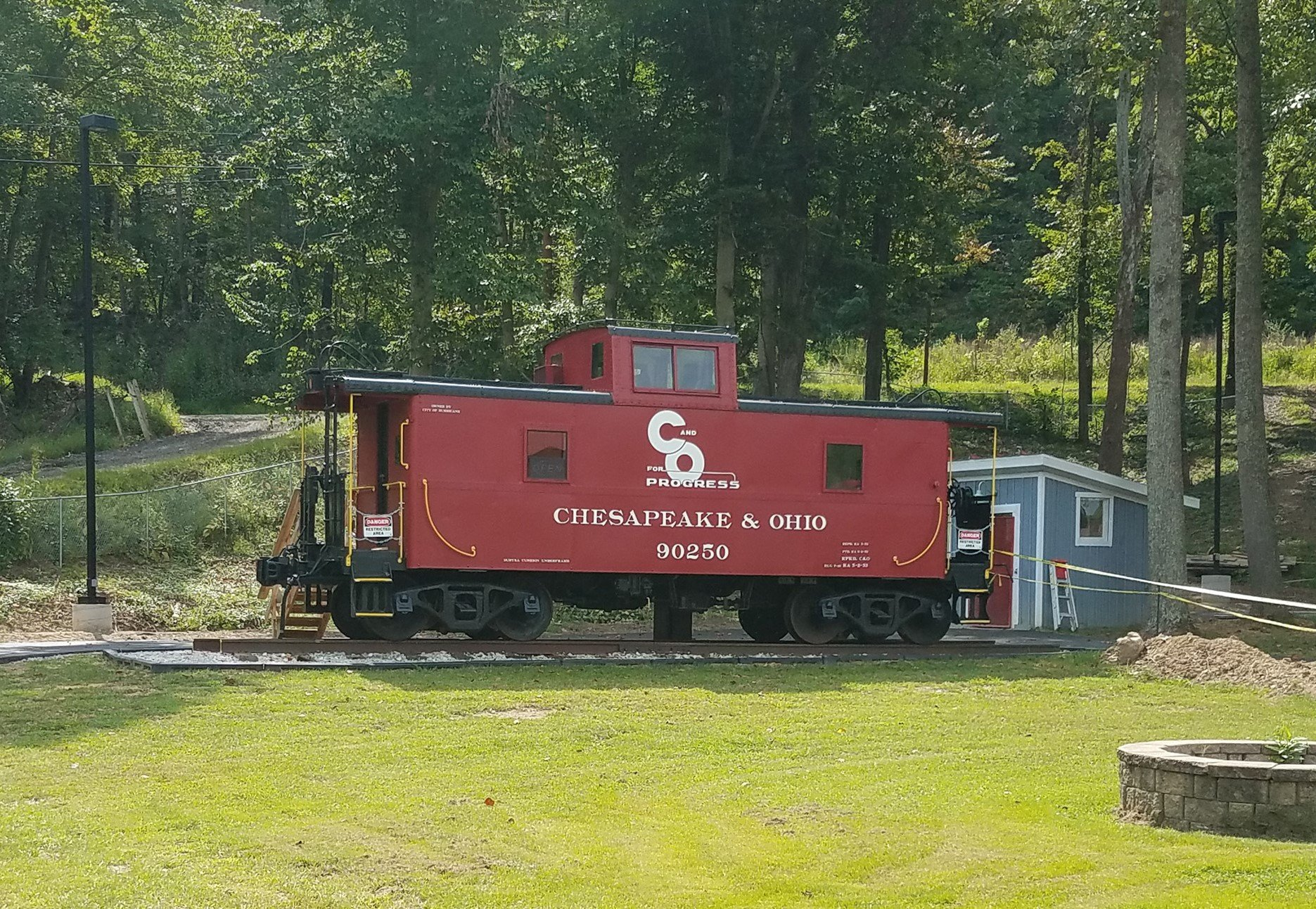 The exterior of Caboose 90250 has been largely restored to its original appearance. The inside contains a small museum; reservations must be scheduled in advance for a tour. Image courtesy of the City of Hurricane.