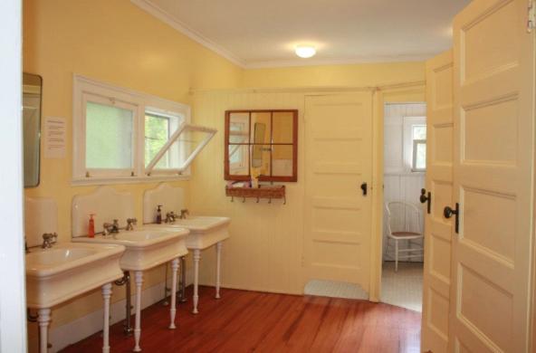Bathroom inside the Fuller House,named after the founder, Mary Fuller