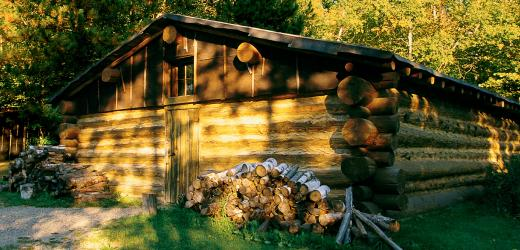 One of the cabins at the center