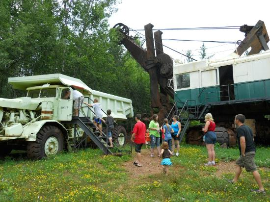 Visitors can get closeup views of some of the equipment used in the mine