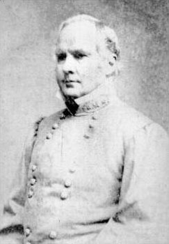 "Confederate General Sterling Price, who commanded the ill-fated ""Missouri Expedition."" His defeat at Mine Creek and several nearby battles would end Confederate ambitions in Missouri."