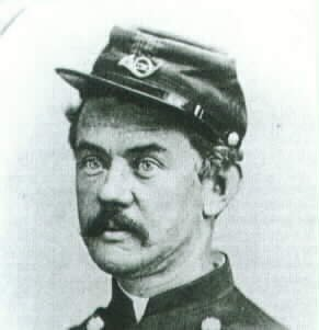 Colonel Frederick Benteen commanded one of the Union brigades at Mine Creek. After the war, he served with George Armstrong Custer and the 7th Cavalry at the Battle of Little Bighorn, where he was blamed for Custer's defeat and death.