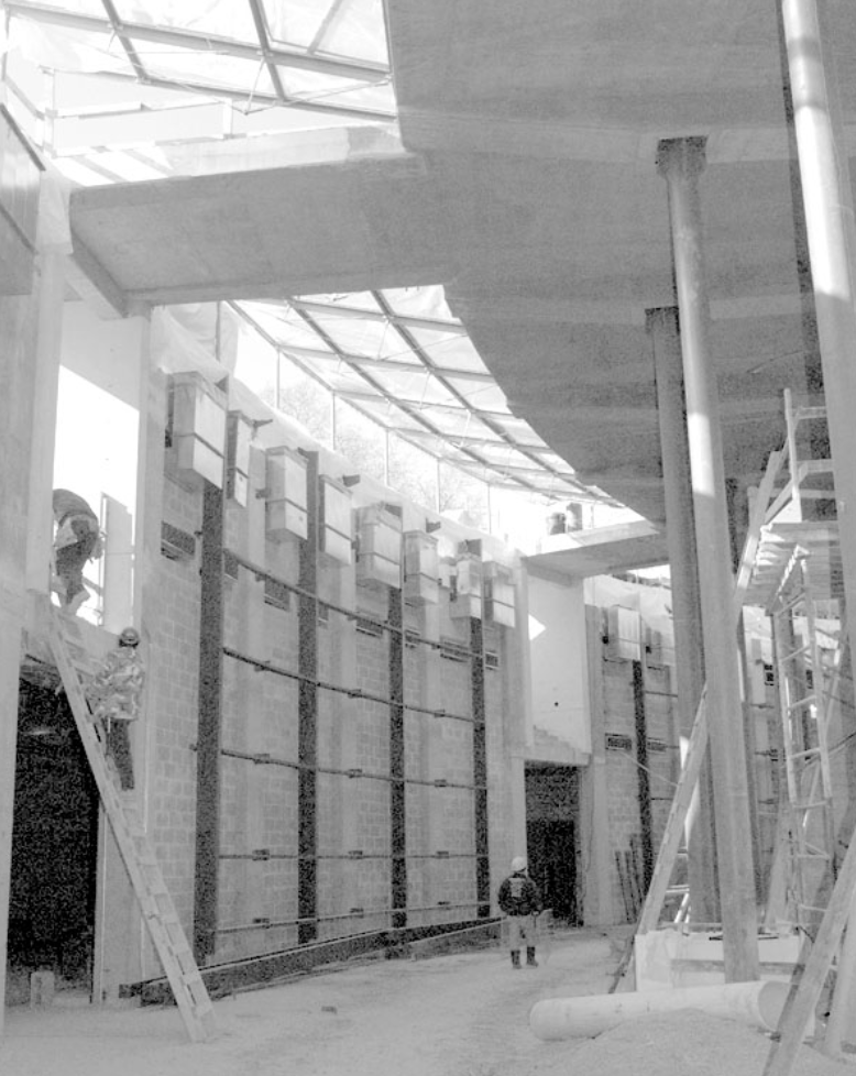 Women in Service for America Memorial under construction during the late 1990s