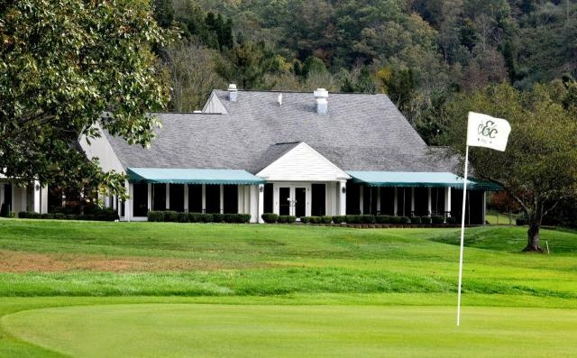 View of the clubhouse from golf course in Sissonville, WV.