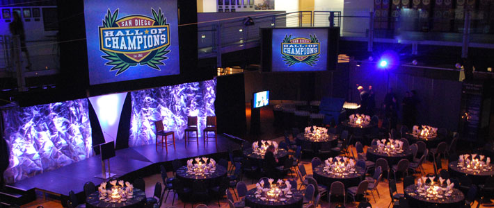 The inside of the San Diego Hall of Champions. Photo by balboapark.org.