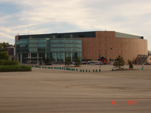 Outside view of The Palace of Auburn Hills