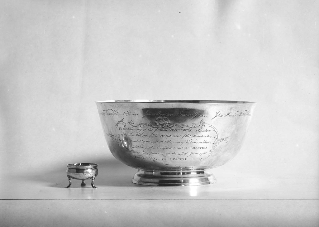 Paul Revere's silver Sons of Liberty Bowl, Courtesy of the Museum of Fine Arts, Boston (http://www.mfa.org/collections/object/sons-of-liberty-bowl-39072)