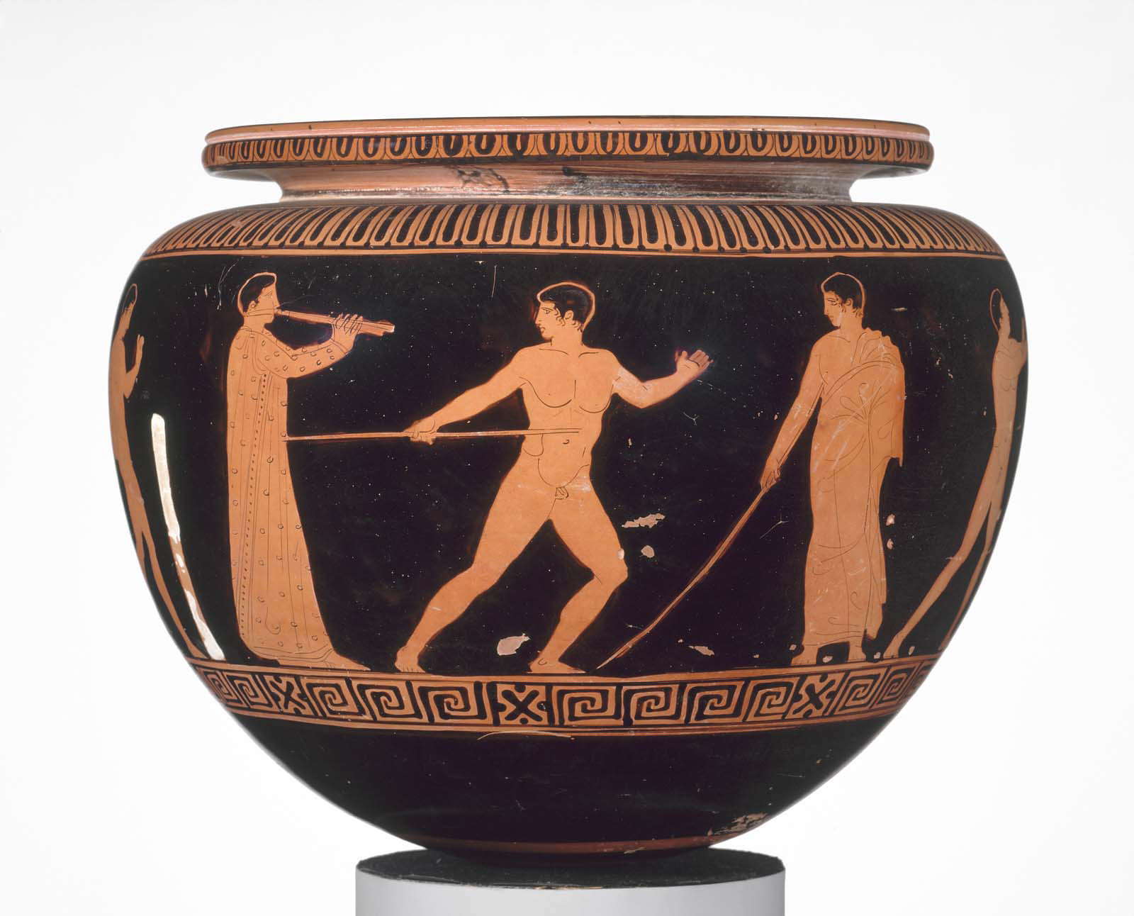 Bowl (dinos) depicting athletes training, Courtesy of the Museum of Fine Arts, Boston