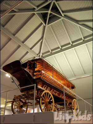 Carriage on display in the Carriage Museum