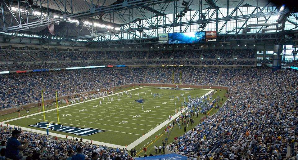 Ford Field became the home of the Lions following two-and-a-half decades at the Pontiac Silverdome.