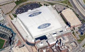 Aerial view of Ford Field