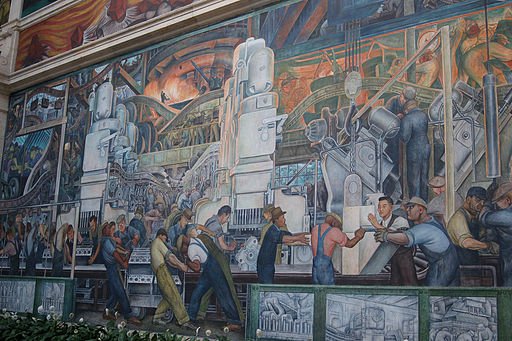 "Mural of ""Detroit Industry"" in Detroit Institute of Arts"