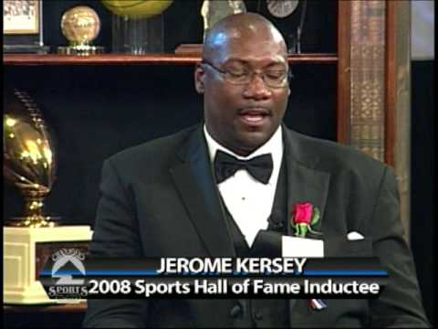Photo of Former Portland Trailblazers great, Jerome Kersey at his 2008 induction.