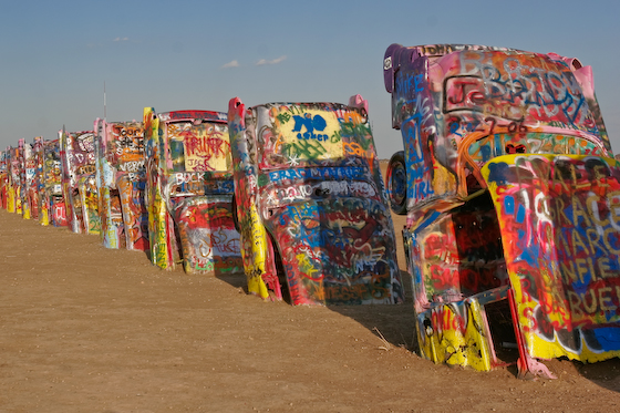 Different view of Cadillac Ranch