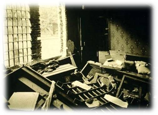 Maurice Mays' jail cell after white rioters looted the police station.