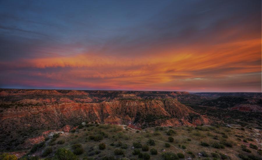 Sunset at Palo Duro